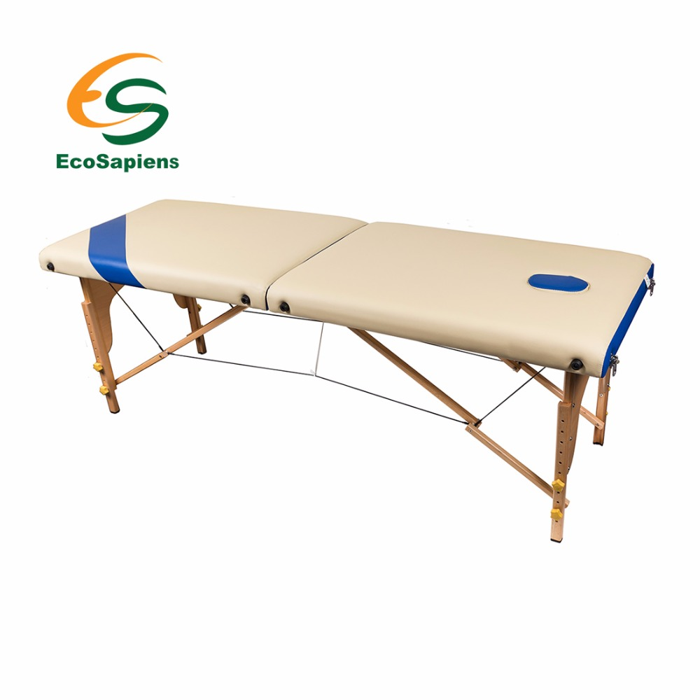 Two-piece folding wooden massage table in a cover SIMPLEX outdoor folding portable camping dining table beach tables