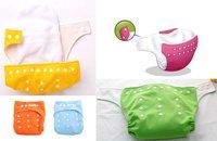 20 шт. у выбрать цвета один размер регулируемая многоразовые моющиеся детские ткань пеленки подгузник 9 цветов