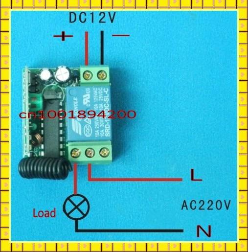 12 В беспроводной пульт дистанционного управления Переключатель системы передатчик и приемник Мини Размер Водонепроницаемый 315 МГц/433 МГц для гаражной двери авто двери