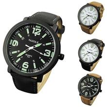 Trend Males Ladies Glow in The Darkish Fake Leather-based Strap Quartz Sport Wrist Watch