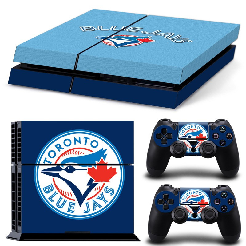 Drop Shipping MLB Toronto Blue Jays PS4 Skin Sticker Decal For Sony PS4 PlayStation 4 PS 4 Console and 2 Controllers Stickers