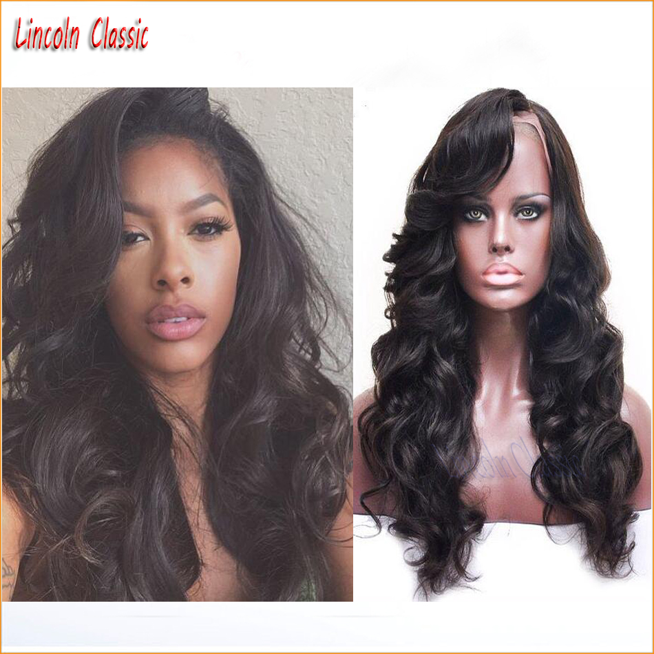 New Natural Thick 150 Density Glueless Lace Front Human font b Hair b font Wigs Body