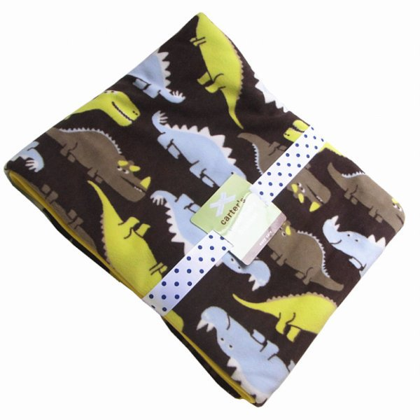 Original Carters Double Layer Velvet Fleece Blanket Newborn Dinosaur Inspiration Dinosaur Throw Blanket