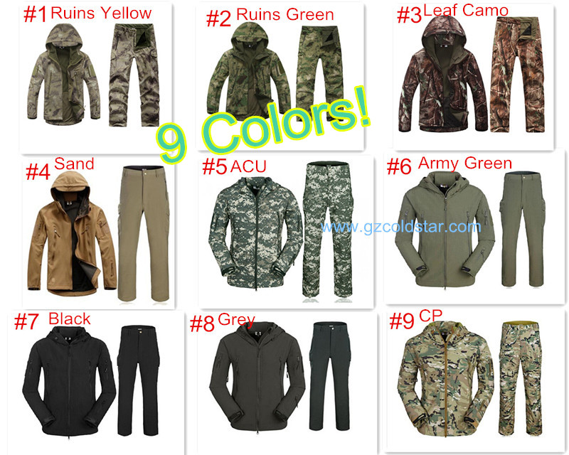 font b Mens b font Outdoor Camouflage Waterproff Hiking Suit TAD V4 0 Gear font