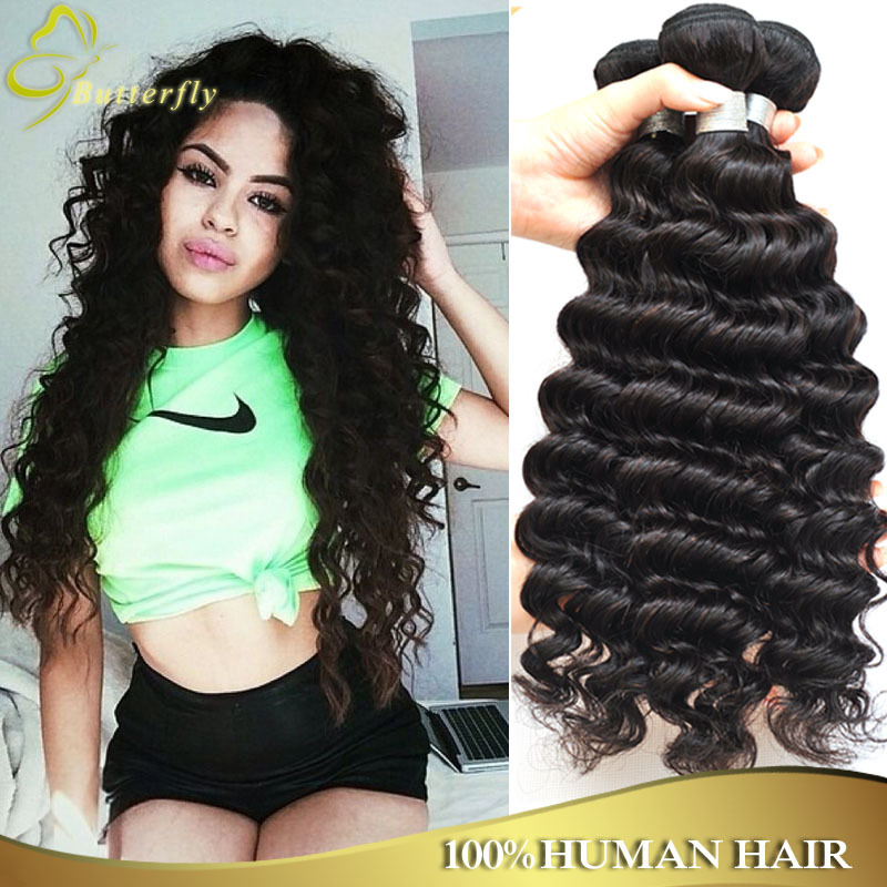 Deep Wave Tight Curly Brazilian Virgin Hair Extension 6a Unprocessed