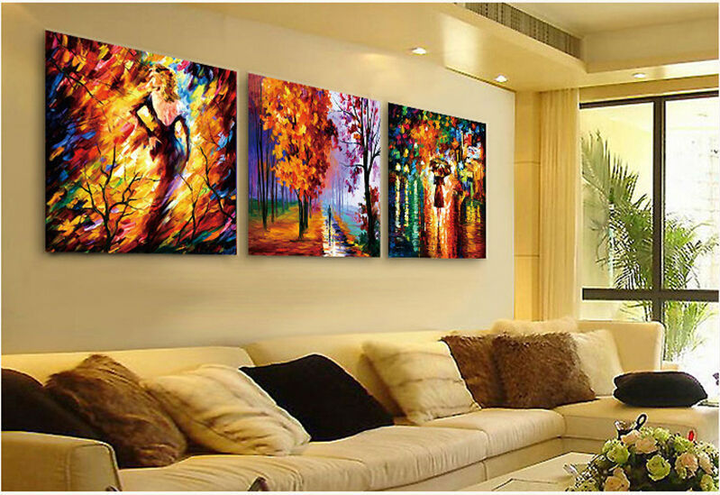 3 Pieces Hot Sale Landscape Modern Abstract Canvas Painting Home ...