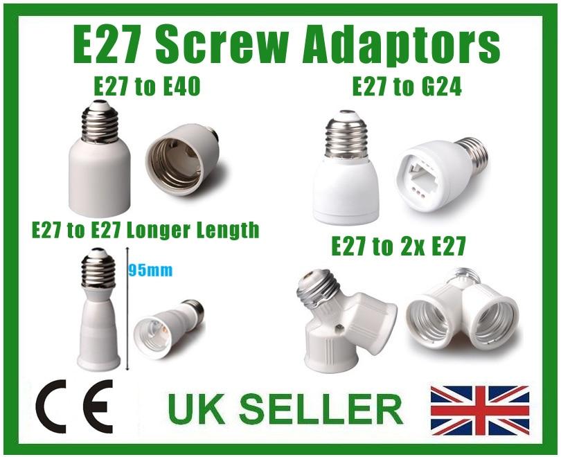 LAMP LIGHT ADAPTOR BC B22 ES E27 E14 SES B15d SBC E40 GES GU10 G9 MR16 G24 E26 In Lamp Holder Converters From Lights Lighting On Aliexpress