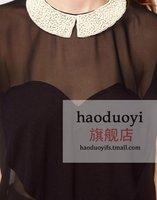 элегантный мода прозрачные в форме сердца бусины цветочное оформление с элегантный широкий