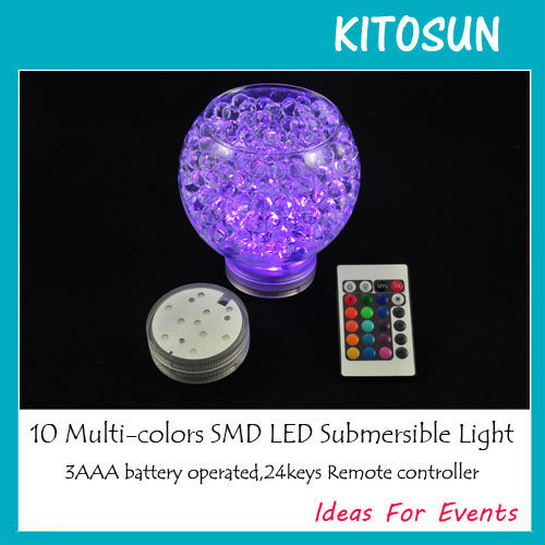 RGB lights with water beads in Rose