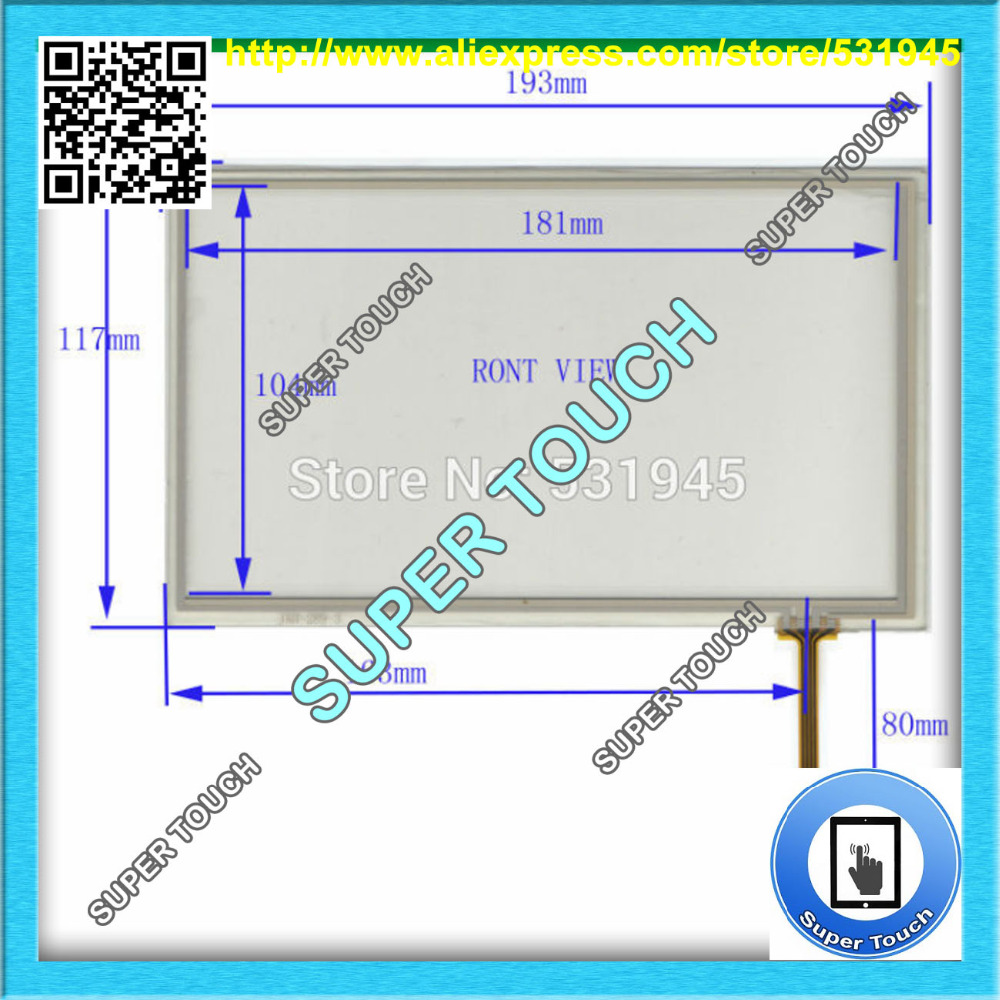 AntiStaticSheld.Bag POST 8 inch 4-wire resistive Touch Panel JXH287 193*117 Navigator TOUCH SCREEN 193mm*117mm GLASS LCD display  цены