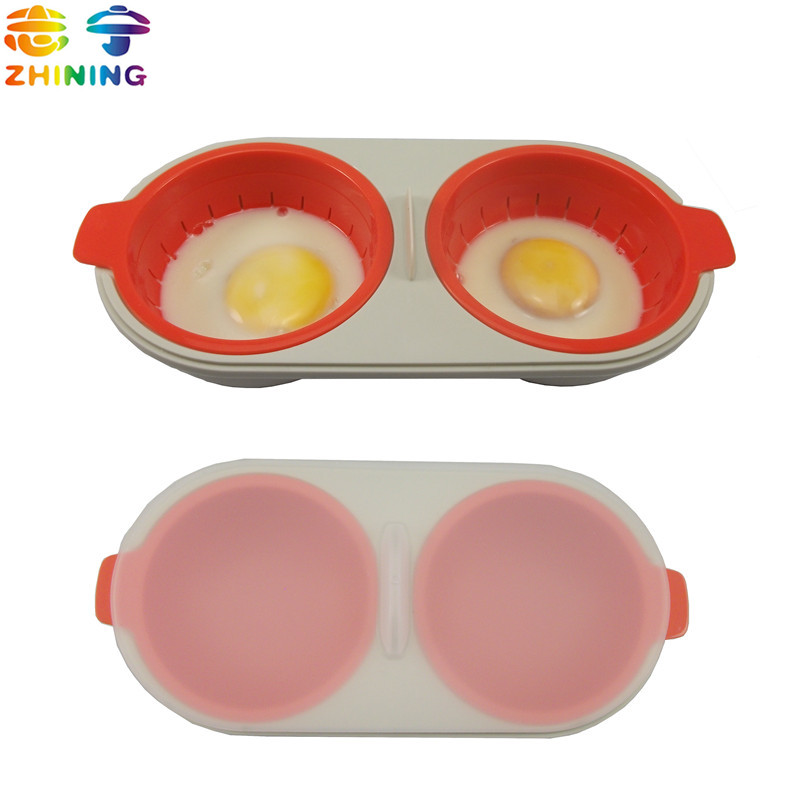 1PC newest egg poacher food grade PP material egg tools put microwave oven kitchen accessories cooking tools free shipping Y-428