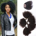 6A Mongolian Kinky Curly Hair With Closure Virgin Human Hair With Closure 5Pcs Bundles With Closure 4B 4C Afro Kinky Curly Hair
