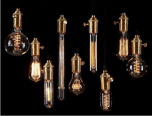 antique edison ampoule lustre aka carbone filament lampe t10 t45 a19 g80 g95 soie lumi re. Black Bedroom Furniture Sets. Home Design Ideas