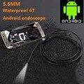 5.5mm 1/1. 5/2/3.5/5 M Lente de Enfoque de la Cámara Cable USB Impermeable 6 LED para Android Mini Endoscopio USB Cámara de Inspección Endoscopio