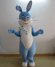 blue Easter bunny mascot costume adult bunny mascot costume(China)