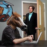 жуткий лошадь маска глава костюм на хэллоуин театр опора новинка латекса