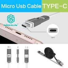 2 In 1 Type C Micro Port USB SYNC Cable Nillkin Original 120cm 5V 2.1A Fast Charging Cable For xiaomi mi mi5 redmi 3 meizu m3