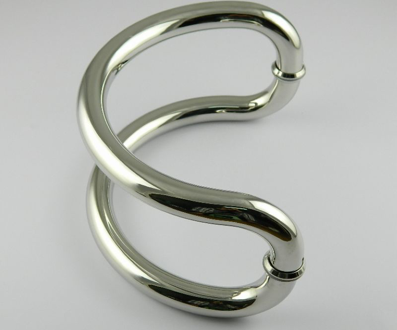 DLS-24 Semi-circular glass door handles stainless steel handle large semi-circular handle size 24cm dls c6 a
