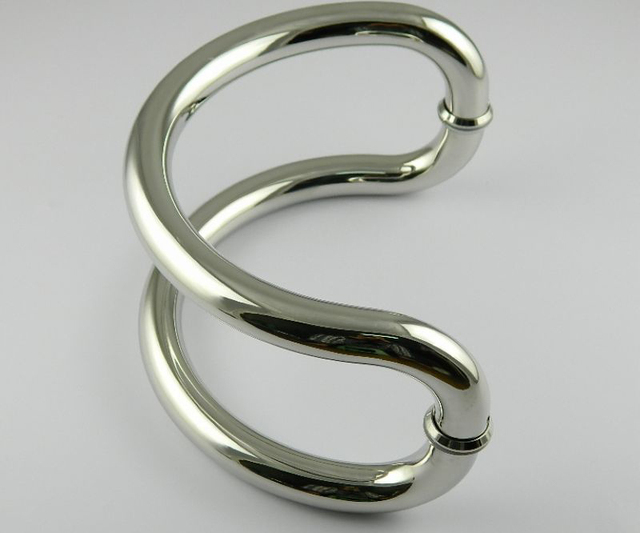 DLS-24 Semi-circular glass door handles stainless steel handle large semi-circular handle size 24cm