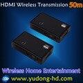 Hdmi беспроводной передатчик и приемник Беспроводной HDMI extender 50 м 3D 1080 P Беспроводной HDMI Системы