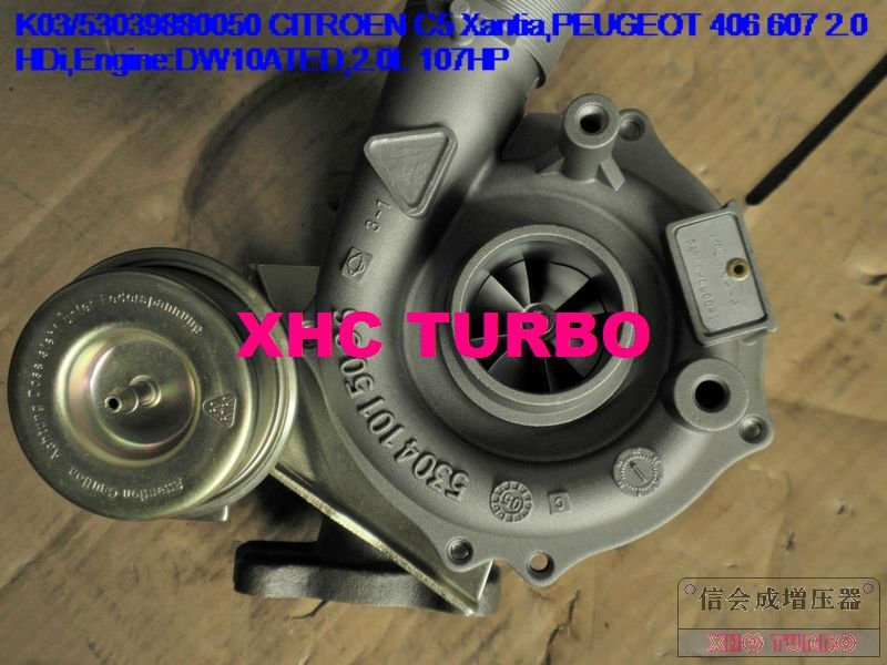 K03 53039880050 0375G3 0375G4 турбо Турбокомпрессор для CITROEN C5 C8 Xantia PEUGEOT 406 607 HDi DW10ATED 2.0L 110HP