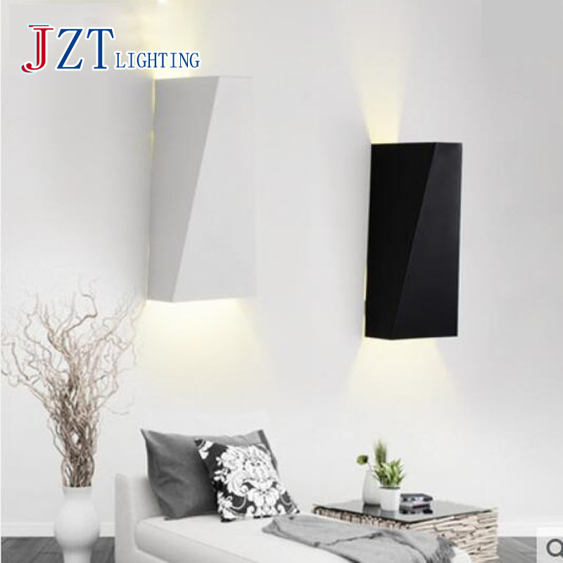 T New Simple 10W LED indoor lights Wall mounted Metal Black&White wall lamps Creative Modern lights for Corridor The stairsT New Simple 10W LED indoor lights Wall mounted Metal Black&White wall lamps Creative Modern lights for Corridor The stairs