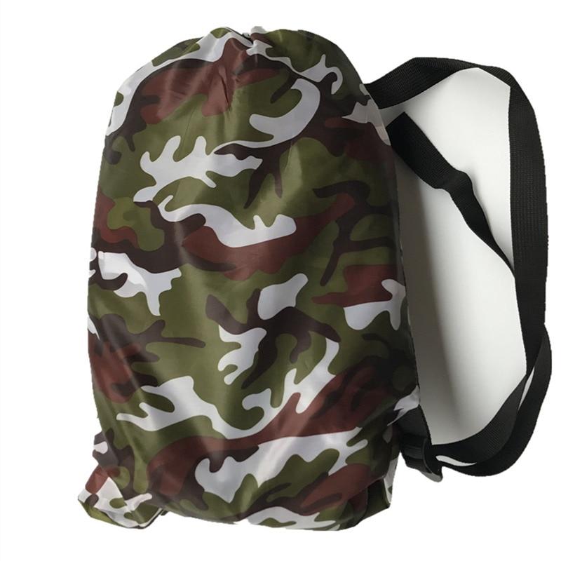 цена на 210*70 cm Fast Inflatable Lazy bag Air Sleeping Bag Camping Portable Air Sofa Beach Bed Air Hammock Nylon Banana Sofa Lounger