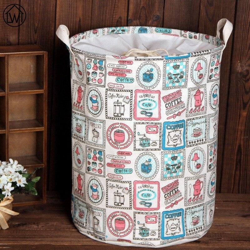 Big Storage Basket Zakka Housekeeping Organization Toy Storage Box Toys Bag Foldable Laundry Basket Sundries Basket