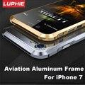 """Luphie Aviação Aluminum Bumper Para IPhone 7 4.7 """"case forma prismática quadro metal cover botão para iphone7 plus com kits de ferramentas"""