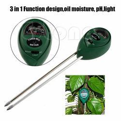 새로운 뜨거운 3 in1 PH 테스터 토양 물 수분 빛 테스트 미터 정원 식물 꽃 키트 수경 분석기