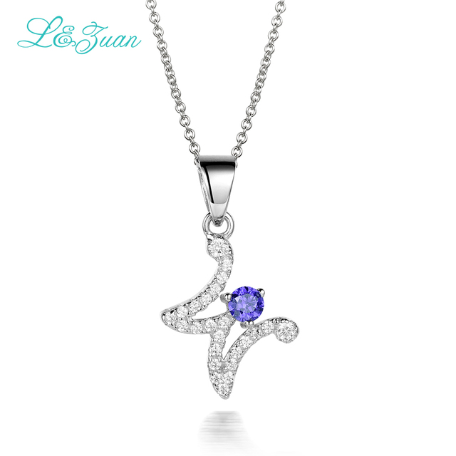 Lzuan charm letter w 925 sterling silver gemstones pendant lzuan charm letter w 925 sterling silver gemstones pendant necklace for women simple fine mozeypictures Gallery