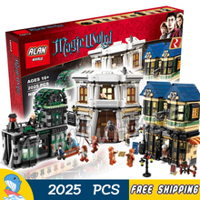 2025pcs Harry Potter Series Diagon Alley 16012 DIY Model Building Kit Blocks Gifts Children Toys bricks Compatible With lego(China (Mainland))