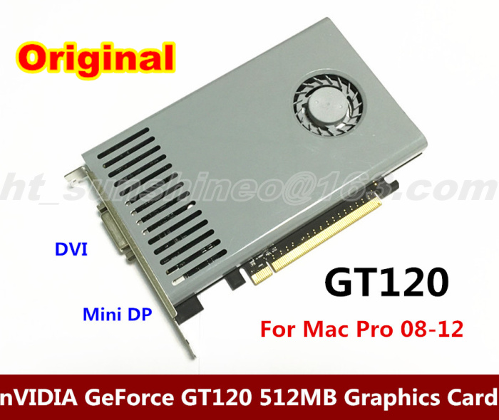 Warranty 3 months  For nVIDIA GeForce GT120 512MB DDR3 DVI+Mini DP interface PCIE Video Card For Mac Pro3.1-5.1 (2008-2012) free shipping 10pcs 100% new lmv934ma