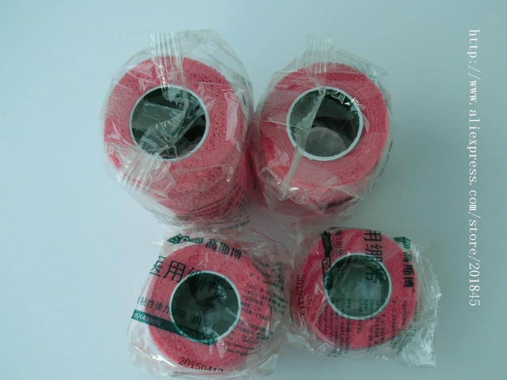 40pcs cohesive bandage cotton self adhasive bandage elastic gauze pink
