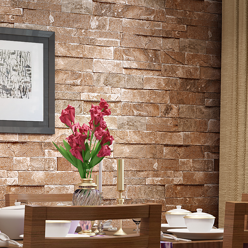 3d vintage design brick wallpaper wall covering wall paper for Living room paper