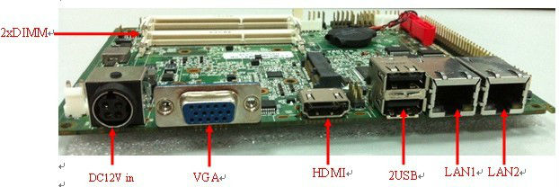 Mini atx motherboard with Onboard 2G RAM with LVDS/VGA (PCM3-N2800em)