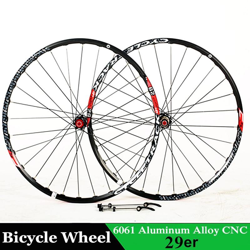 Bicycle Wheel 29 inch MTB 28 Holes 6061 alloy CNC Disc brake wheels 4 bearing wheels for Shimano 8/9/10/11 Speeds Bicycle Parts rovan cnc alloy brake axle bearing