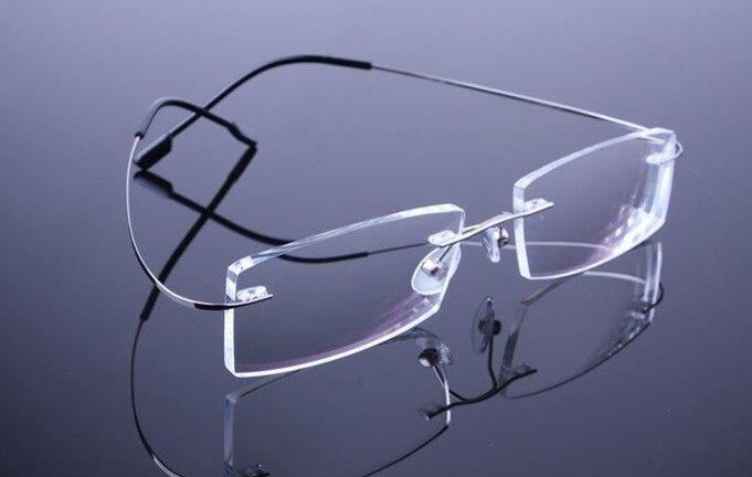 35d193fa95bf3 Sem aro de Metal armações   óculos de titânio memória sem moldura 9 cores  em Armações de óculos de Acessórios de vestuário no AliExpress.com
