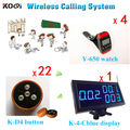 ( 1 Display + 4 Pager + 22 Buzzers ) Wireless Calling Pager System Restaurant Order Service Fast Food Equipment Made-in China