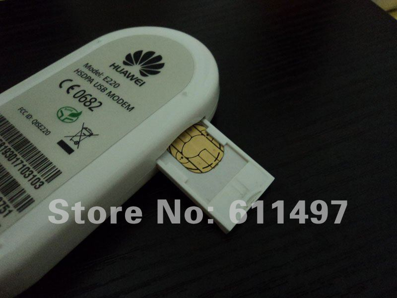 Freeshipping  UNLOCKED HUAWEI E220 3G HSDPA USB MODEM 7.2Mbps wireless network card ,support google android tablet PC
