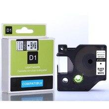 Бесплатная доставка DYMO 45803 совместим D1 этикетки 19 мм черным по белому DYMO этикеток машины labelmanager 45803