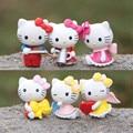 6pcs/set 2.5-3.5CM Mini Hello Kitty Figures Toys Lovely Hello Kitty PVC Action Figures Toys Kids Toys, Anime Brinquedos
