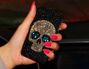 Image 5 - 3D serin Punk Spikes çiviler perçin elmas Bling çapa Samsung Galaxy S10e S9 S10 S20 artı FE not 10 + 10 Lite 9 20 Ultra