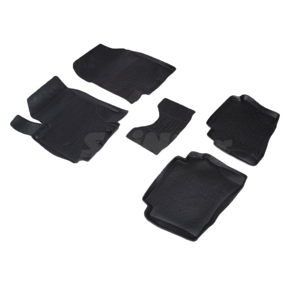 For Hyundai i20 2009-2012 rubber floor mats into saloon 5 pcs/set Seintex 01680 автомобильный коврик seintex 82331 для hyundai i20