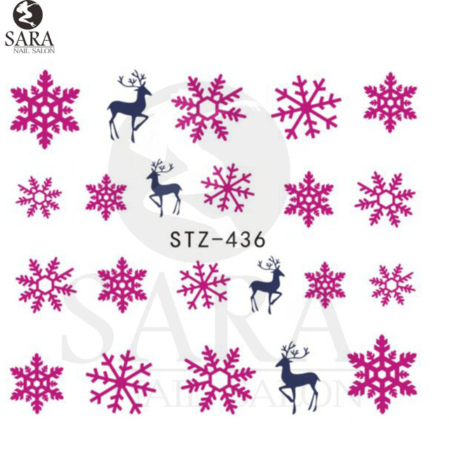 Christmas Nail Art Water Decals Transfer Stickers