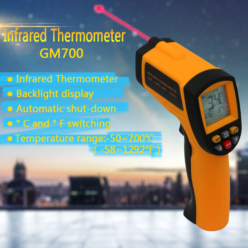 IR Infrared Temperature Tester Thermometer Laser Gun 100% Good Quality New GM700 Temperature range -50 to 700 degree Non-Contact  цены
