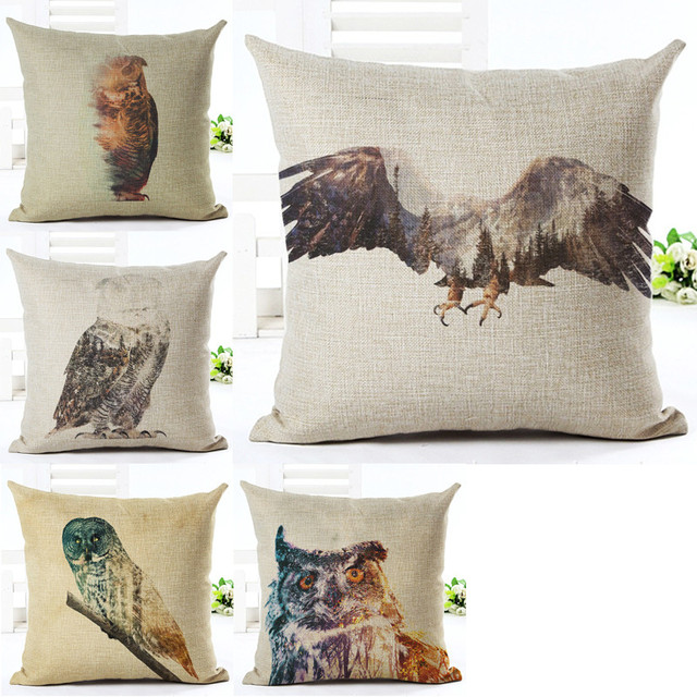 Car Covers Store Cojines Washing Painting Birds Cushion Cover Classy Washing Decorative Pillows