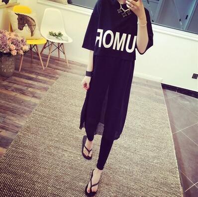 23952881230 Женская одежда летние прямые Платья для женщин Повседневное плюс Размеры  Свободные Хлопок Письмо женская обувь