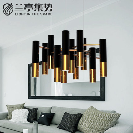 Modern Retro Metal Pendant Lamp Industrial Black Gold Lustres Luxury Light Living Room Light Free Shipping custom 3d stereo wallpaper murals window outside european scenery living room tv wall decoration painting papel de parede 3d