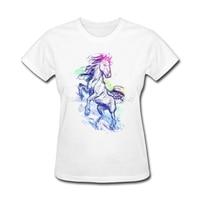 Cheap Price New Style Women S T Shirt Custom Made Brave Horse Women S Shirt Simple